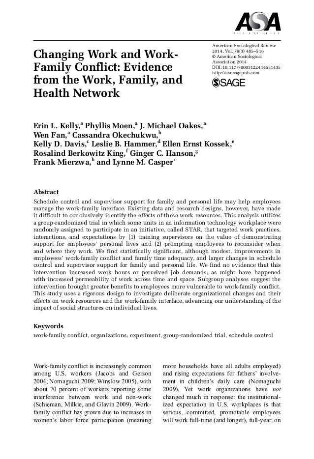 literature review of work and family conflict Work family conflict: a review of female teachers in indonesia siti nurmayanti1 therefore this literature review is intended to explore the wfc that occurs among female teachers to achieve a balance between work and family for these female teaches is a.