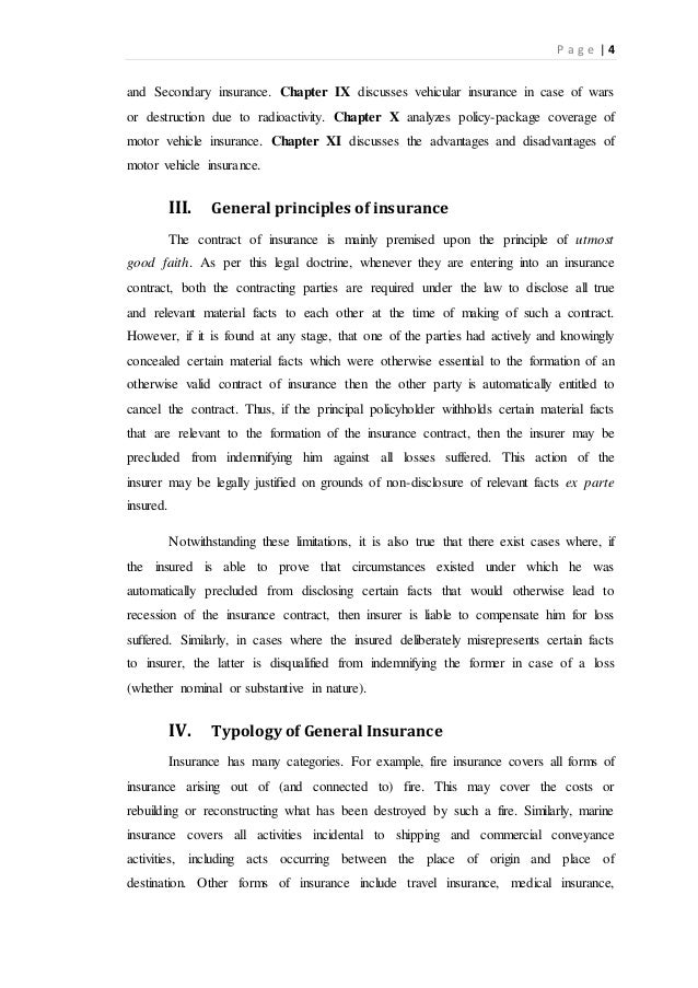 Research papers insurance
