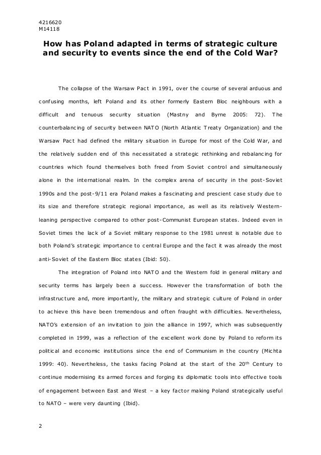 cold war conclusion essay Category: cold war history historical essays title: the cold war.