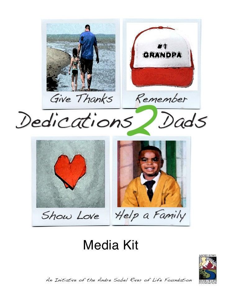 Dedications 2 Dads Media Kit- Andre Sobel