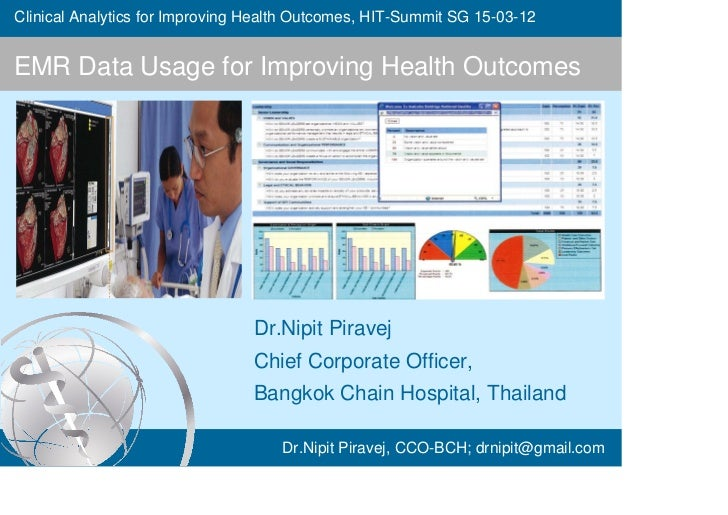 Clinical Analytics for Improving Health Outcomes, HIT-Summit SG 15-03-12EMR Data Usage for Improving Health Outcomes      ...