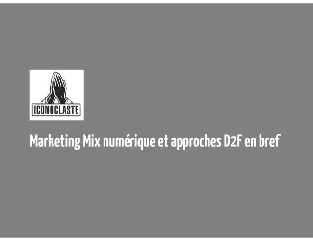 D2F marketing mix iconoclaste