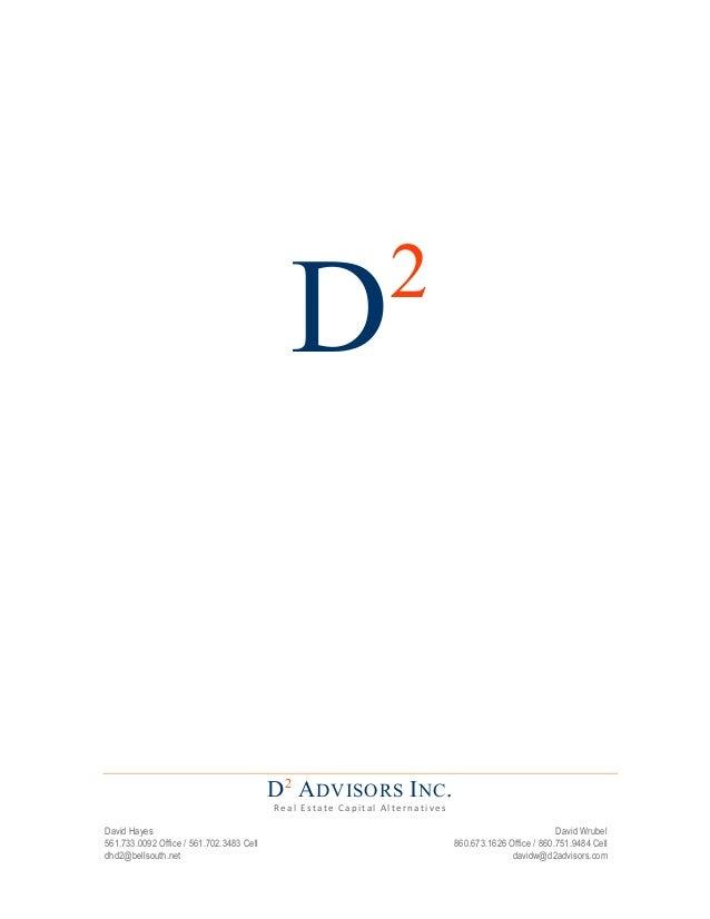 2                                                 D                                          D 2 A DVISORS I NC .       ...