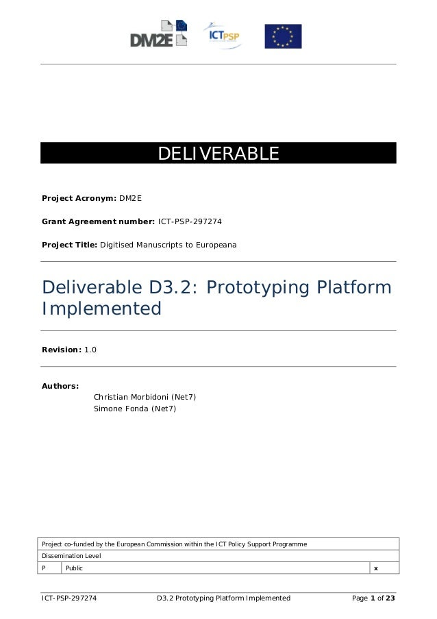 D3.2 1.0 wp3_prototyping platform implemented_20130228