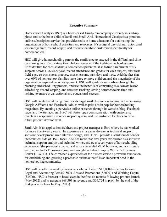 Charter school business plan