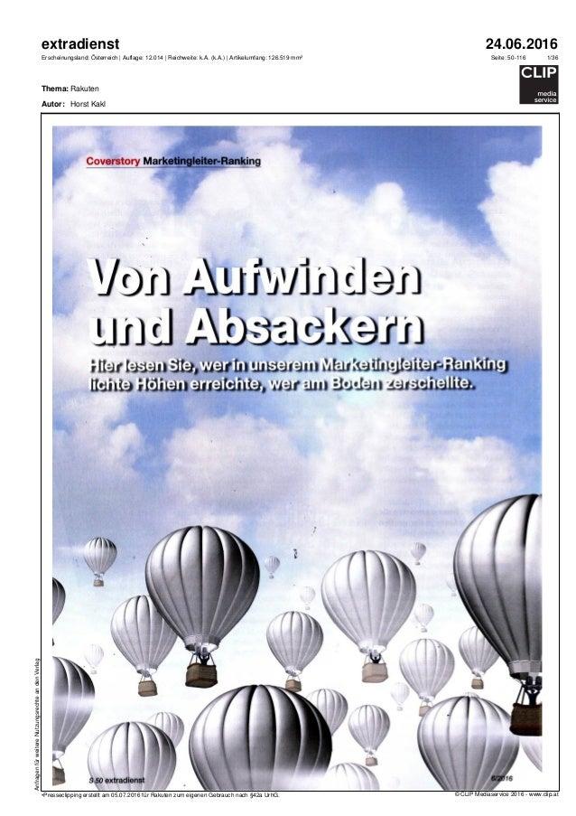 24.06.2016 Rakuten 1/36 AnfragenfürweitereNutzungsrechteandenVerlag Seite: 50-116 extradienst Erscheinungsland: Österreich...