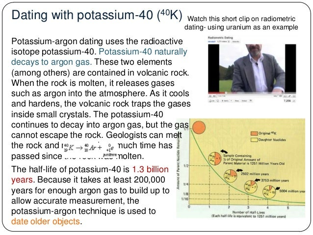 is potassium argon dating reliable This is yet another reason why calibration with other dating techniques is used in fission track dating it just isn't very reliable in potassium-argon dating.