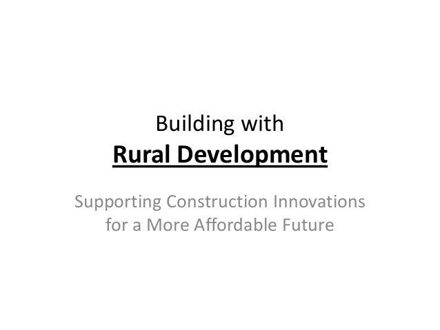 D3 innovative construction technologies   bill downs - usda