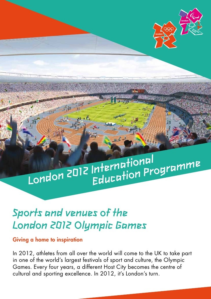 tional gramme                   nternaion Pro       ondon 2012 I ducat      L           ESports and venues of theLondon 20...