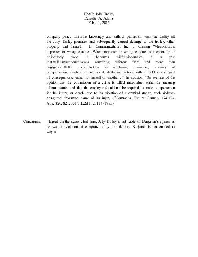 Irac law essay format