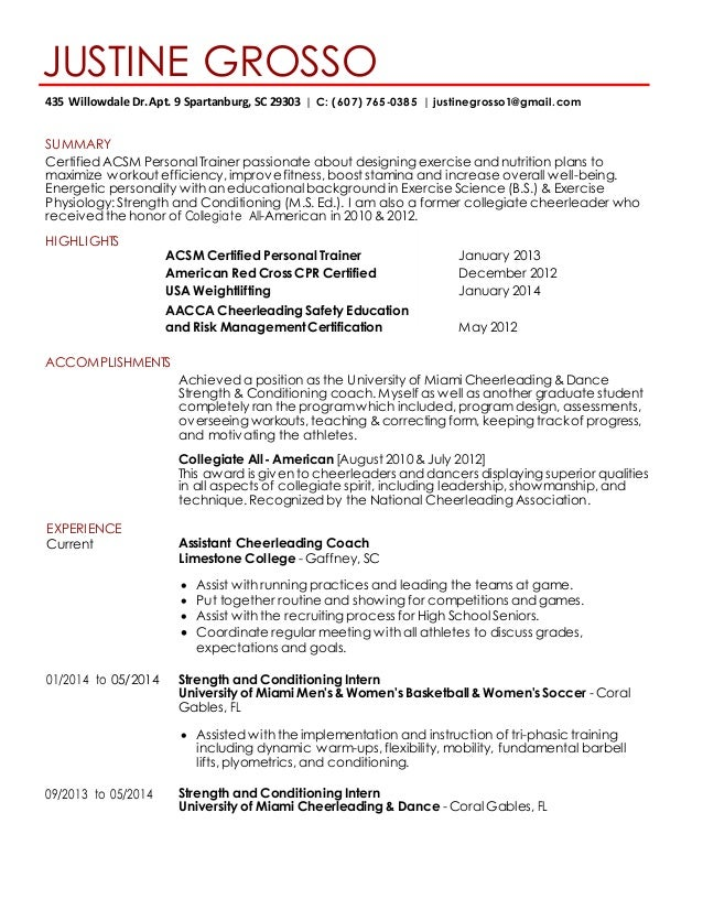 Athletic Coach Resume Template How To Create A College Recruiting Resume  Athnet Text Version Of The  Soccer Resume For College