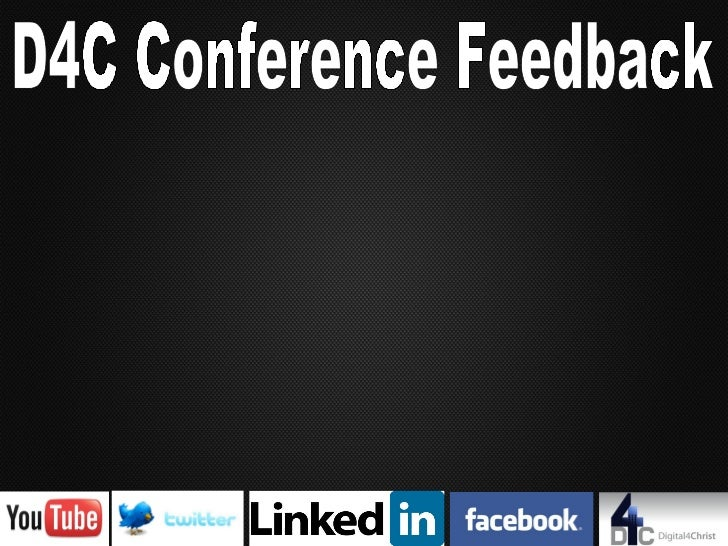 D4C Conference Feedback