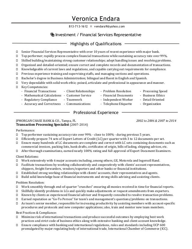 resume bilingual customer service representative