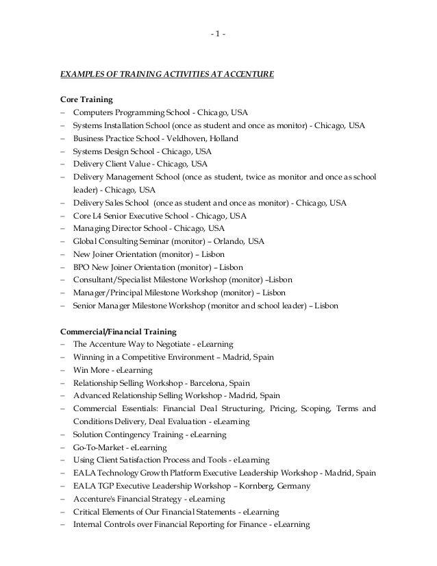 accenture resume tips 28 images accenture ebook
