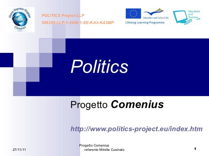 Politics project presentation. Mirella Cusinato