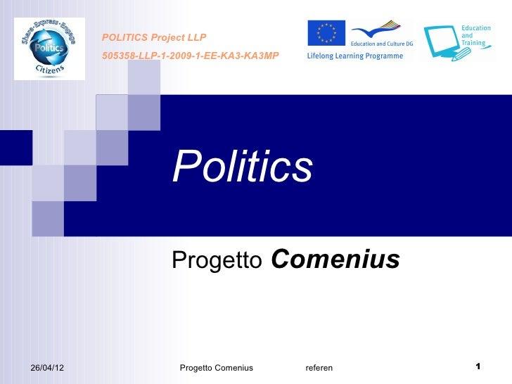 D6.2.1 presentation politics for schools and politicians_italian_version