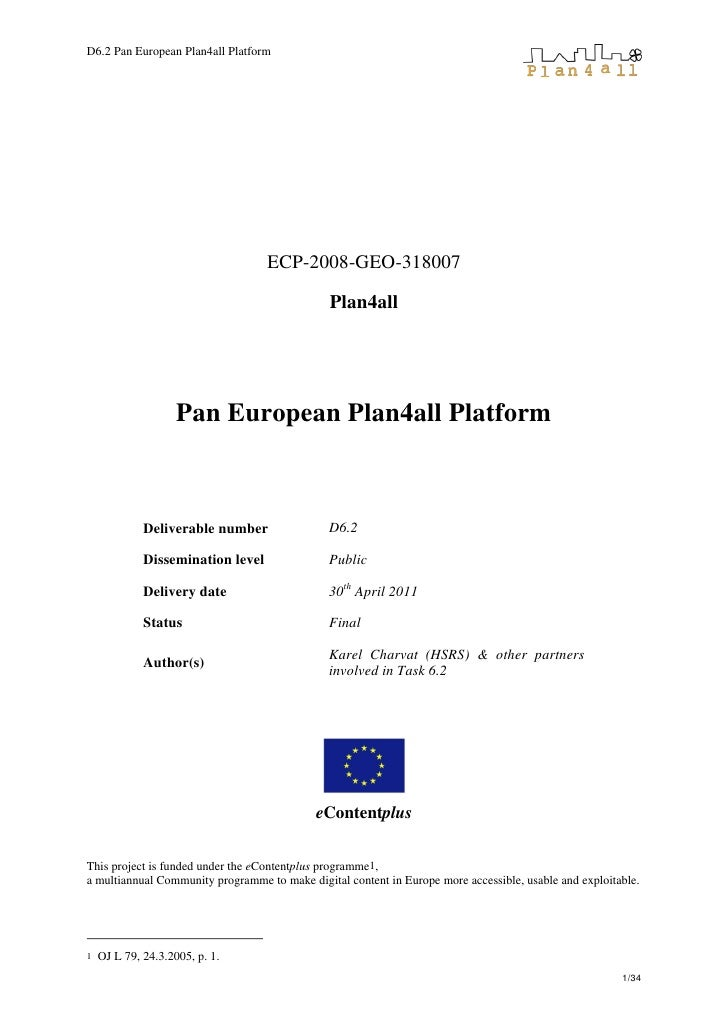 D6.2 Pan European Plan4all Platform
