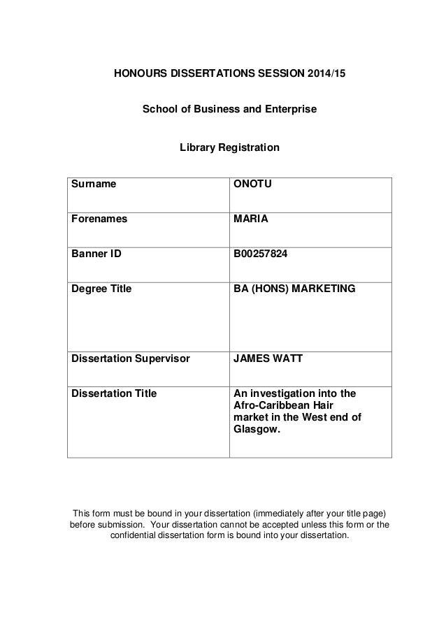 Dissertation In Marketing