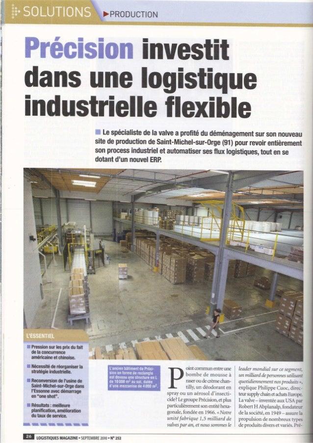 Logistiques Magazine Sept 2010