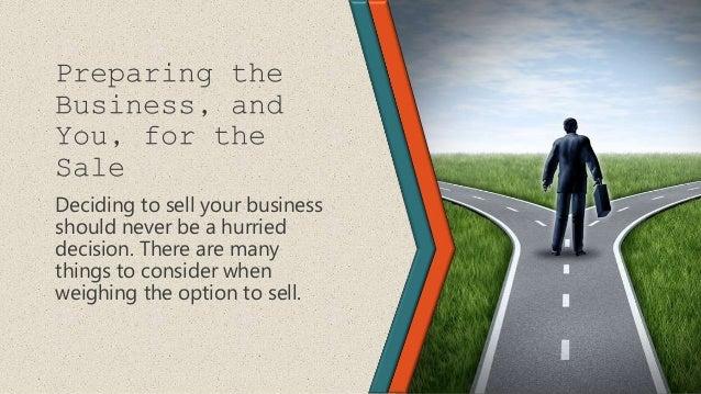 Sale presentation