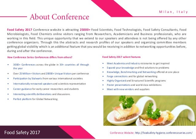 food safety brochure Food safety certification prometric's food safety exams play a critical role to ensure that food services professionals have mastered the principles necessary to reduce risk to consumers our exams establish standards of knowledge and accountability – and effectively.