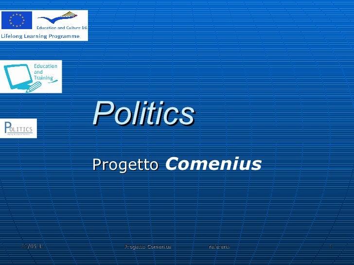 Politics Progetto  Comenius