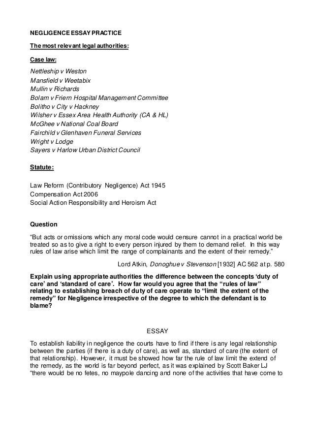 essay on medical negligence