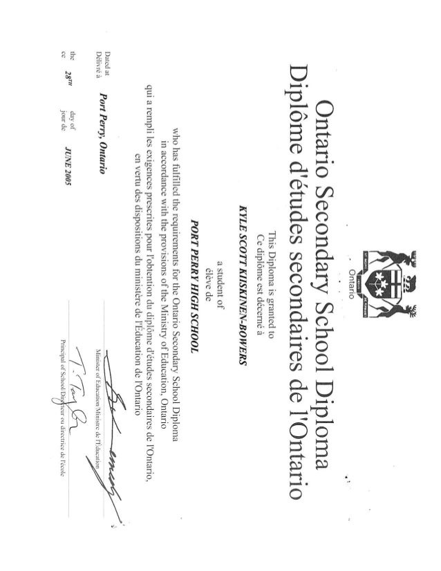 secondary school diploma canada secondary school