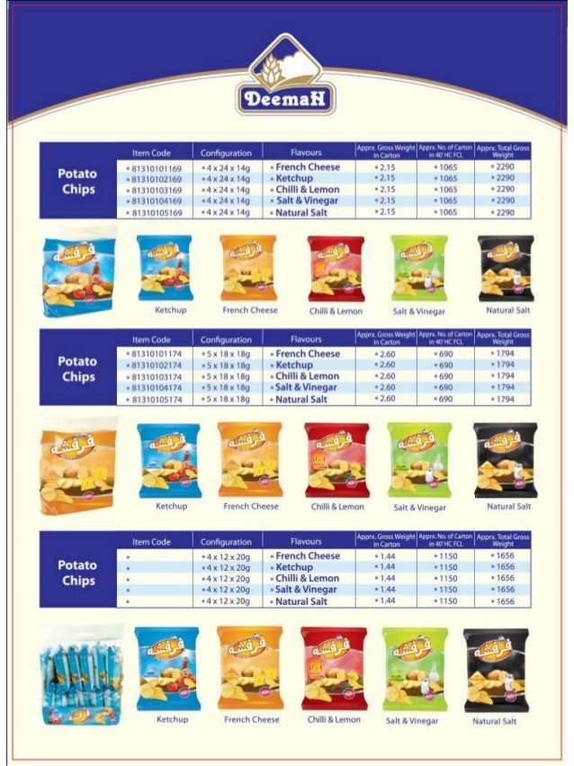 SNACKS - DEEMAH PRODUCT CATALOG