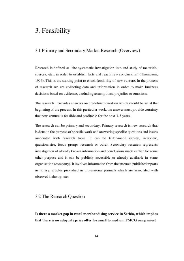 Mba research proposal