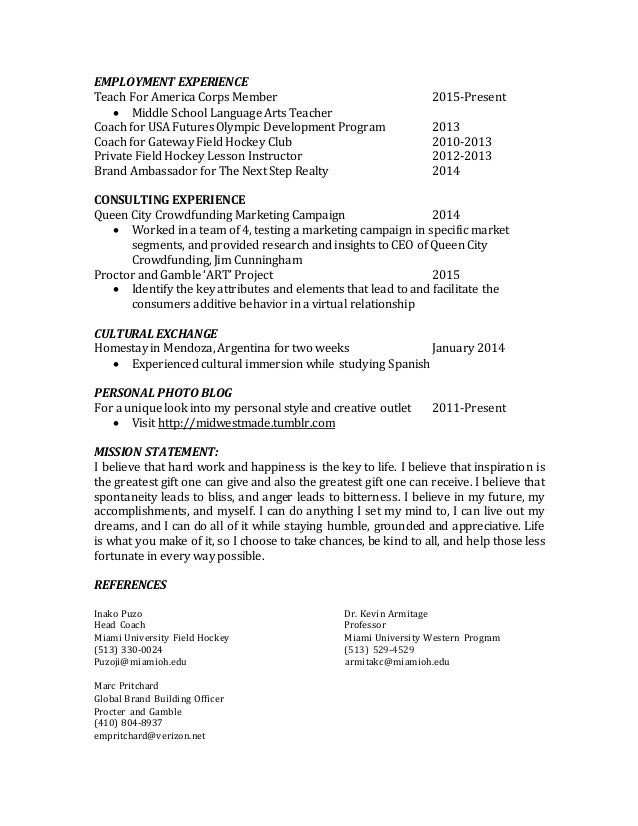 Teach For America Resume Duynvaerder Nl
