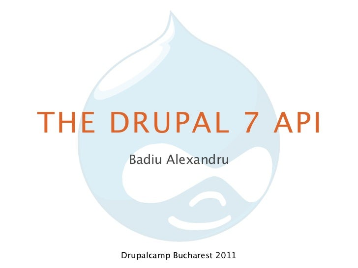 What's new in the Drupal 7 API?