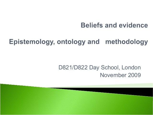 D821/D822 Day School, London November 2009
