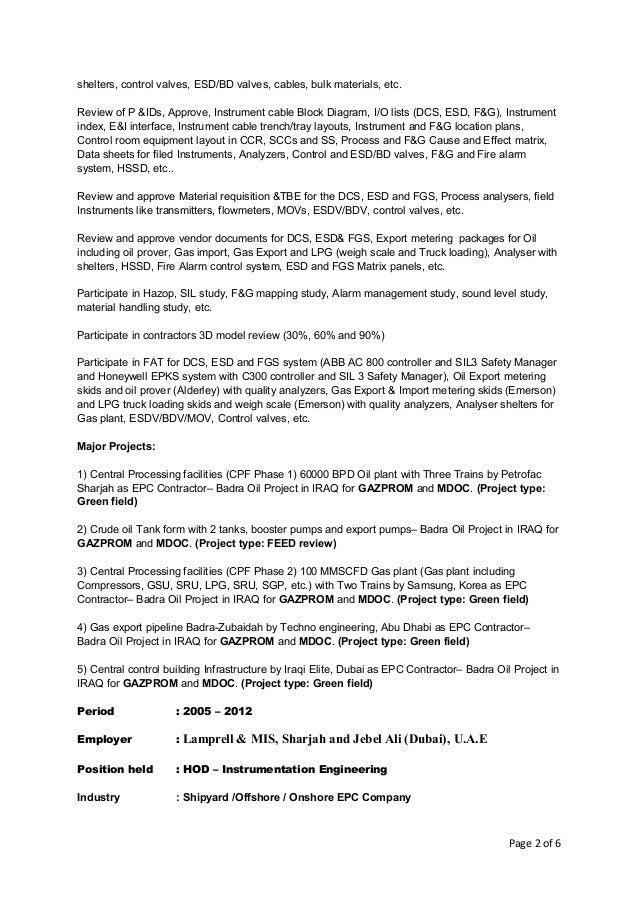 karmegam sekar resume of instrumentation and engineer