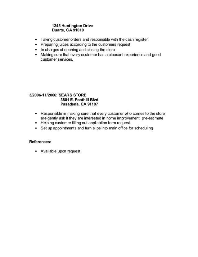 cash register resume medical resume effective resume objectives ...