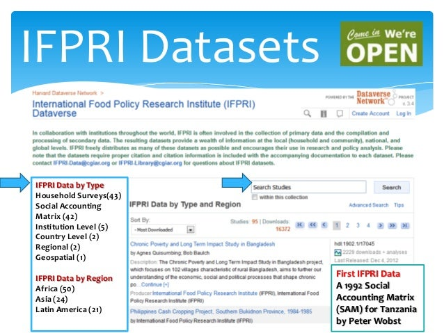D8 Open Data for Agriculture Presentation by Indira Yerramareddy, IFPRI, Dataverse