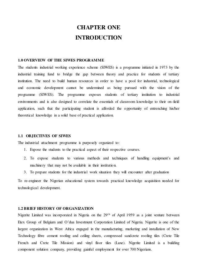 SIWES report slides Essay