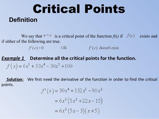Critical define
