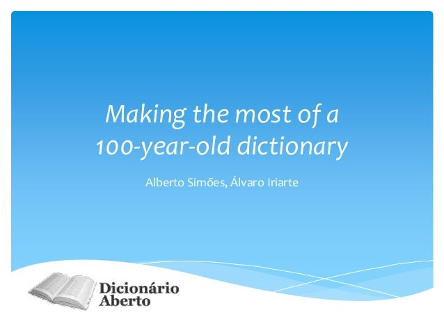 Making the most of a 100-year-old dictionary
