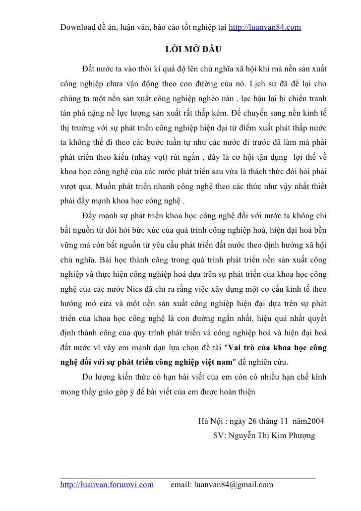 Download đề án, luận văn, báo cáo tốt nghiệp tại http://luanvan84.com                              LỜI MỞ ĐẦU      Đất nướ...