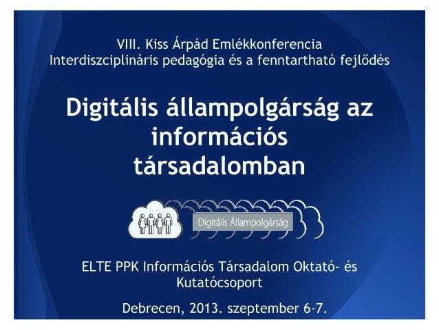 Az online viselkedéskultúra és az értékteremtő produktivitás szerepe a digitális állampolgárság kompetenciarendszerében