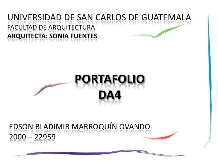 Da4 Portafolio 14 09 2009