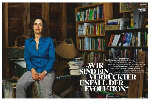 """WIR SINDEIN VERRÜCKTER UNFALL DER EVOLUTION"" Interview: Norbert Höfler und Alexandra Kraft; Fotos: Nick Ruechel Der Mensch..."