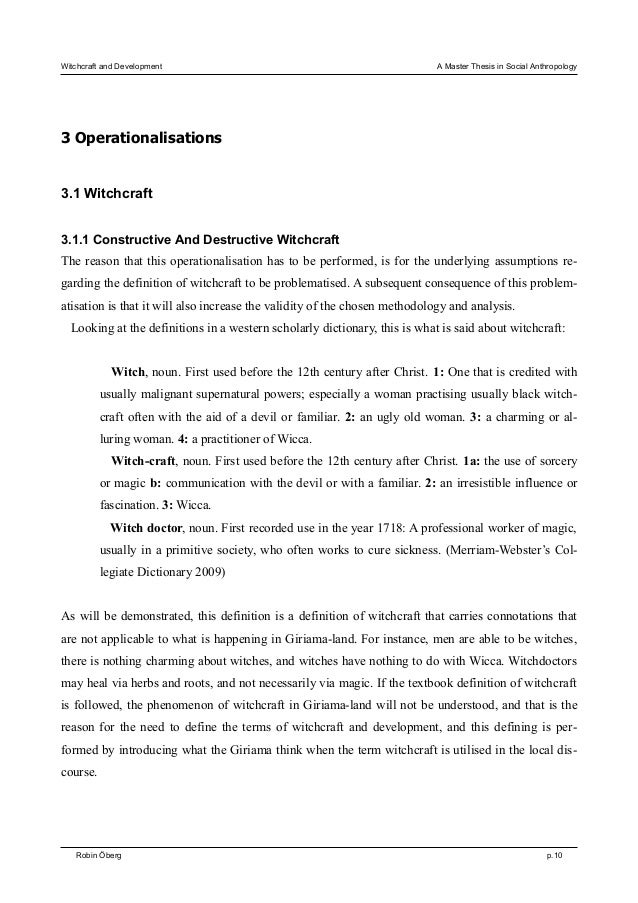 Help with my thesis and title?