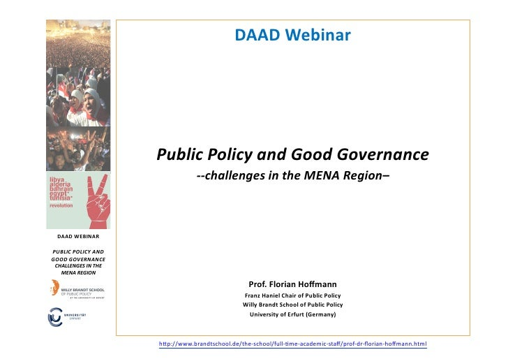 Webinar Public Policy and Good Governance
