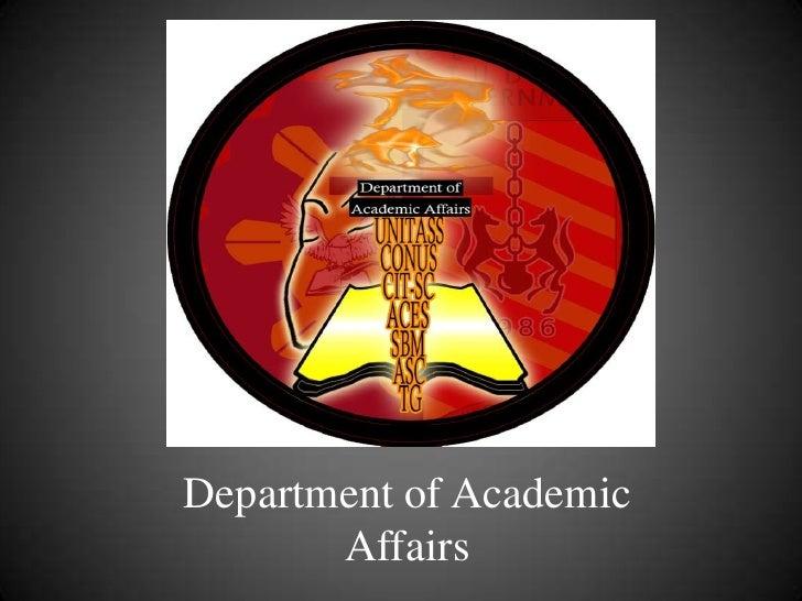 Department of Academic Affairs<br />