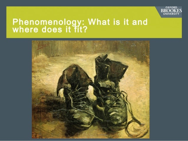 Phenomenology: What is it and where does it fit?
