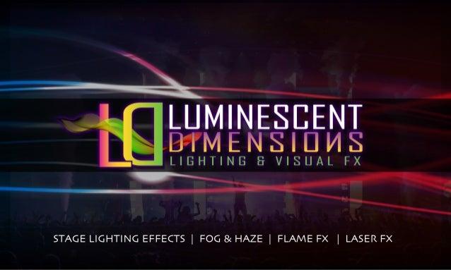 Luminescent Dimensions