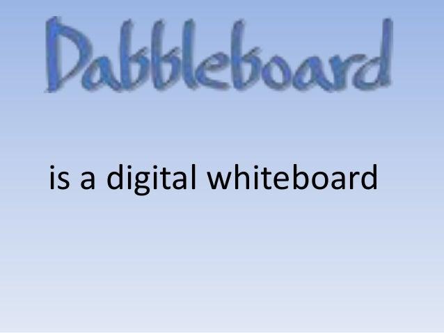 is a digital whiteboard
