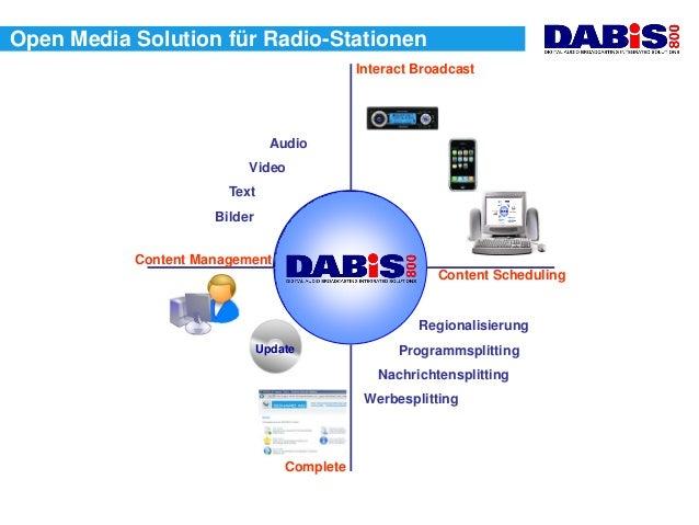 Open Media Solution für Radio-Stationen                                             Interact Broadcast                    ...